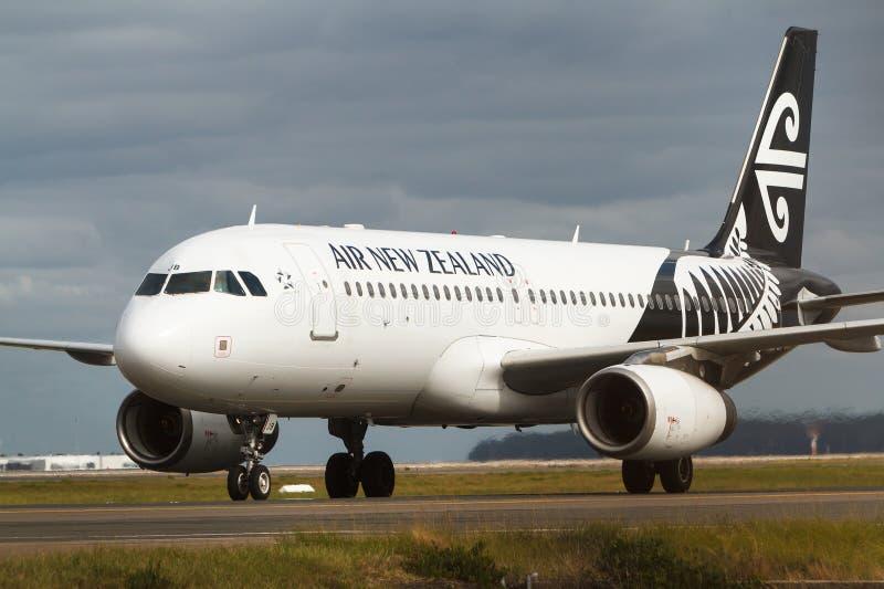 Авиалайнер аэробуса A320 Air New Zealand стоковая фотография