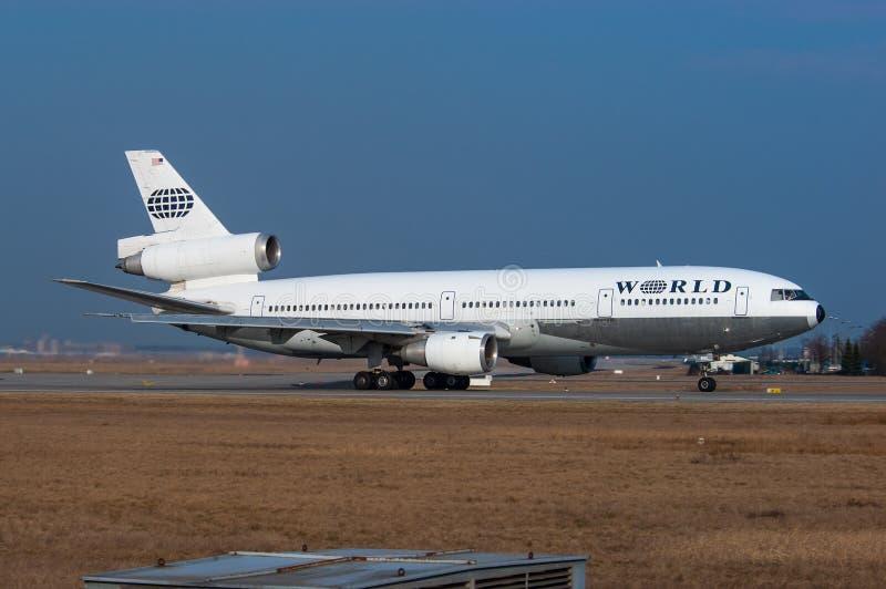 Авиалинии McDonnell Douglas DC-10-30 мира стоковые изображения rf