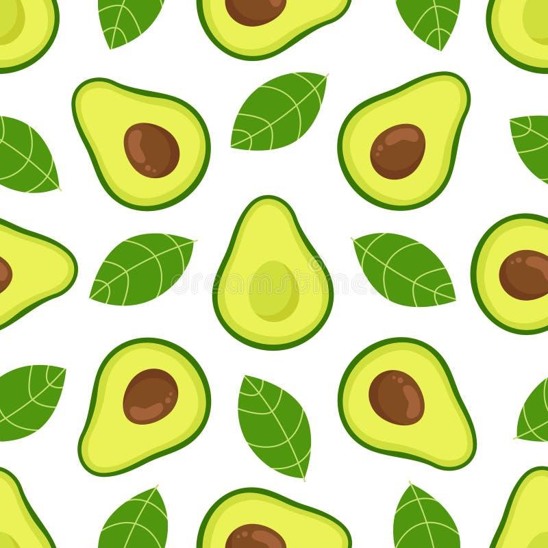 Авокадо вектор картины безшовный иллюстрация штока