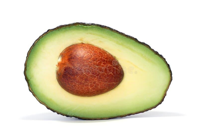 Download авокадо половинный стоковое изображение. изображение насчитывающей бело - 18381637