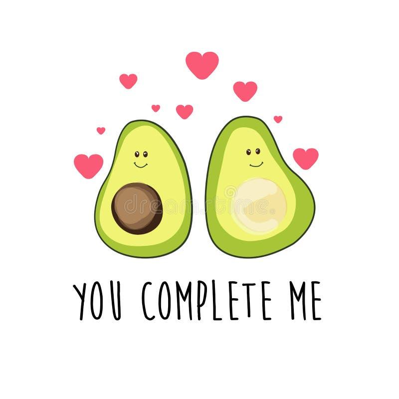 Авокадо иллюстрация штока