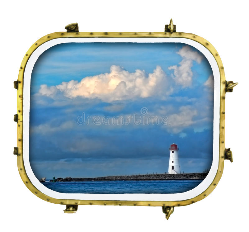 аврал корабли маяка стоковое изображение rf