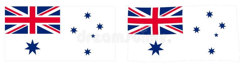 Австралиец белый e военноморского флага Австралийского Союза различный иллюстрация штока