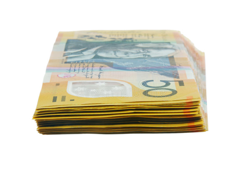 австралийские деньги стоковое изображение