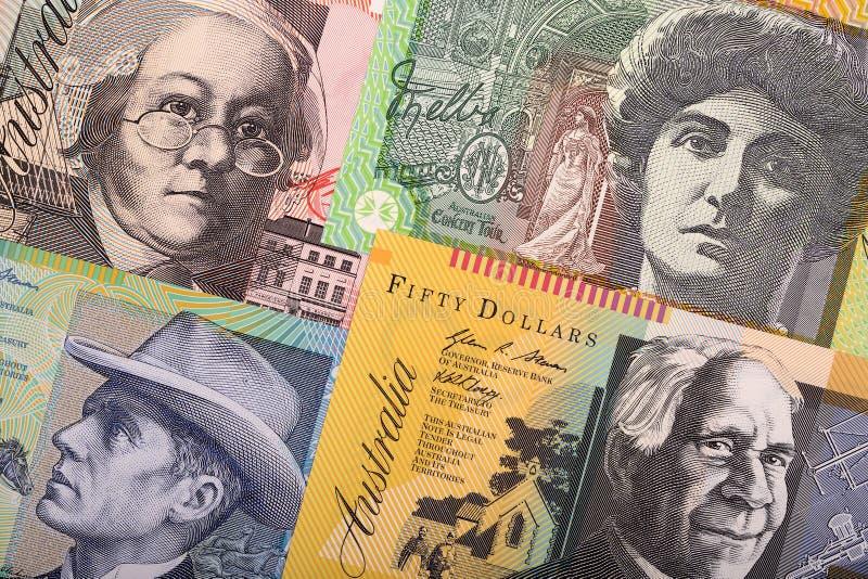 Австралийские доллары, предпосылка дела стоковое фото