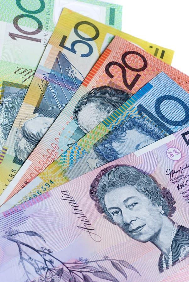австралийские наличные деньги стоковое фото