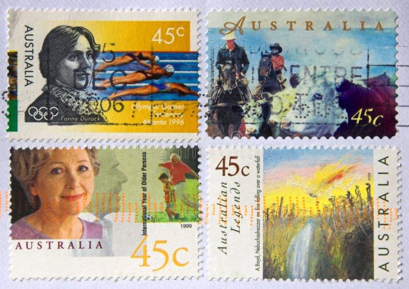 австралийские штемпеля стоковая фотография