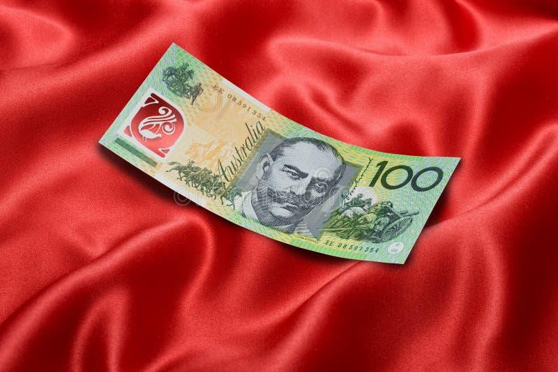 австралийский доллар 100 одно счета стоковые изображения rf