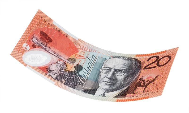 австралийский доллар 20 счета стоковое фото