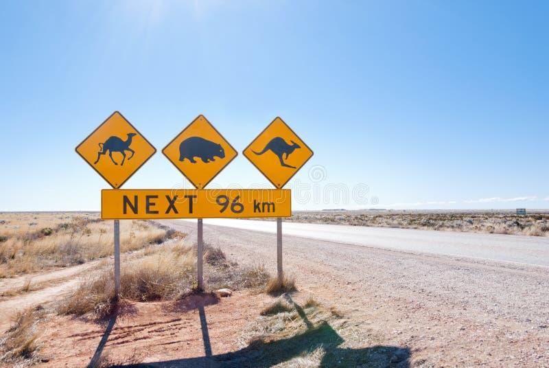 Австралийский знак скрещивания живой природы стоковые изображения