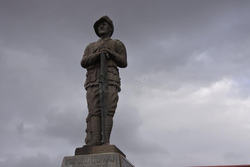 Австралийский памятник скульптуры ANZAC солдата стоковое фото