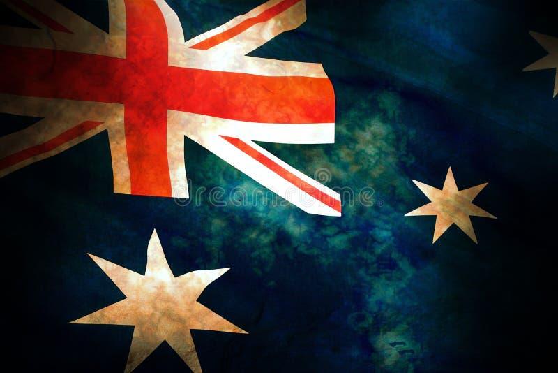 австралийский флаг старый стоковое фото rf