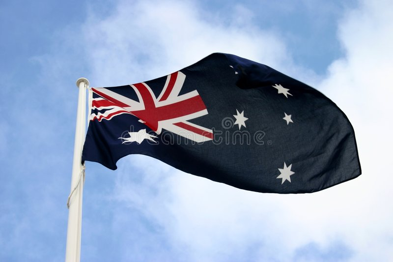 австралийский флаг стоковое изображение