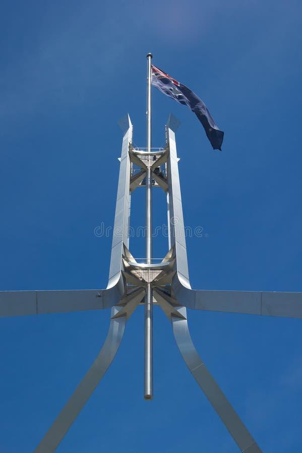 австралийский флаг Canberra Стоковые Фотографии RF