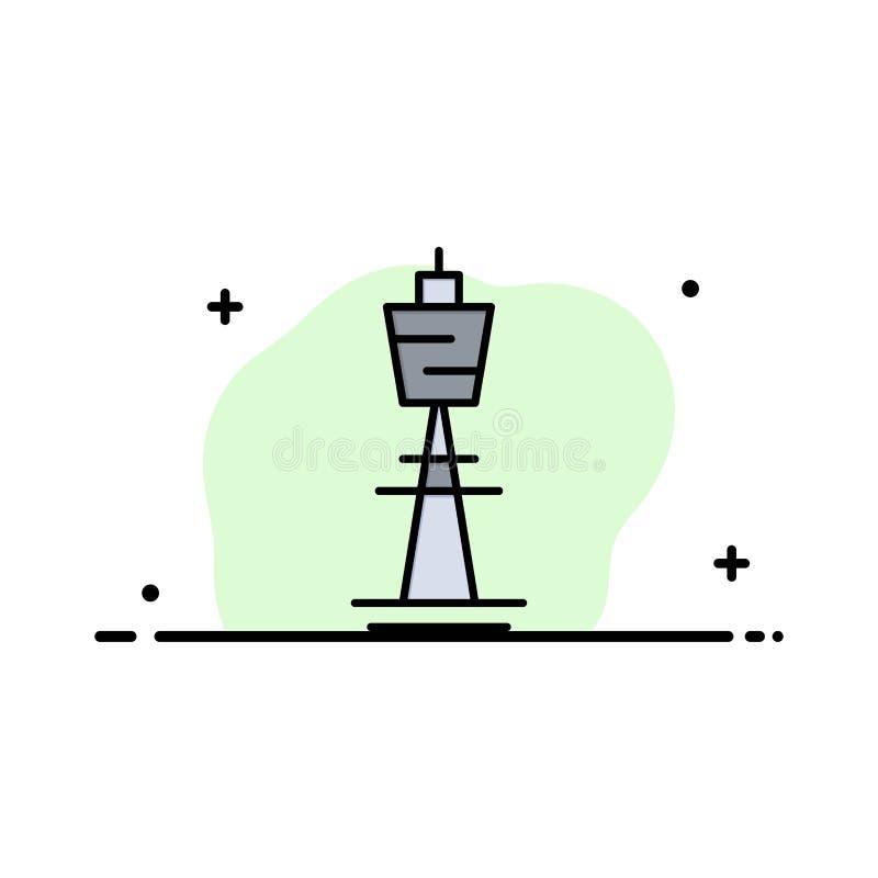 Австралия, австралиец, здание, Сидней, башня, линия дела башни ТВ плоская заполнила шаблон знамени вектора значка бесплатная иллюстрация