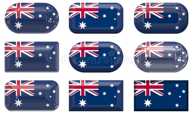 Австралия застегивает стекло 9 флага бесплатная иллюстрация