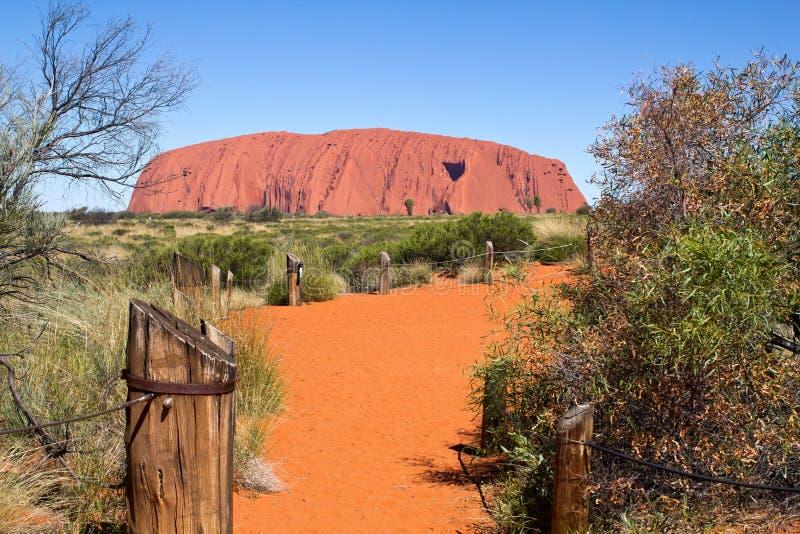 Австралия, утес Ayers, Uluru, парк Nonal, северное Territoryati стоковые изображения