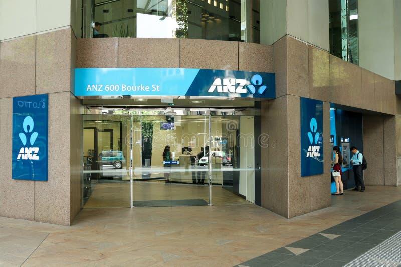 Австралиец и группа банка Новой Зеландии ограничивали ANZ, основанное в 1835, четвёртый по величине банк в Австралии стоковое фото rf
