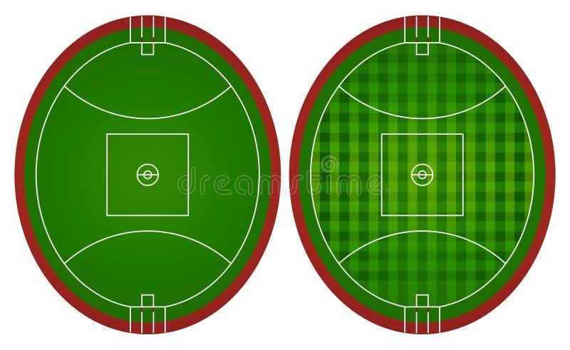 Австралиец управляет футбольными полями иллюстрация вектора