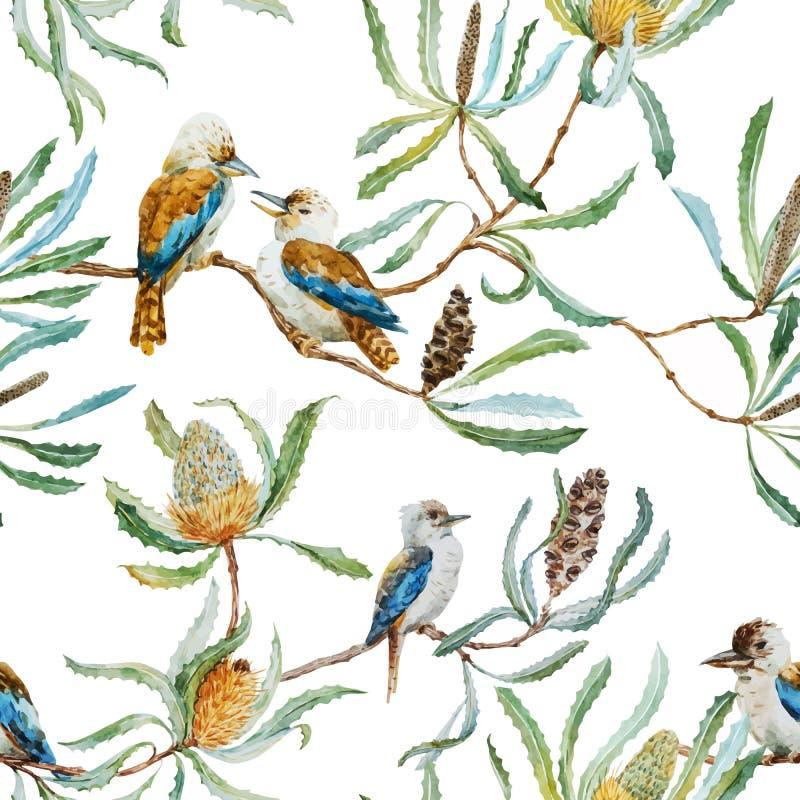 Австралийская картина птицы kookaburra бесплатная иллюстрация