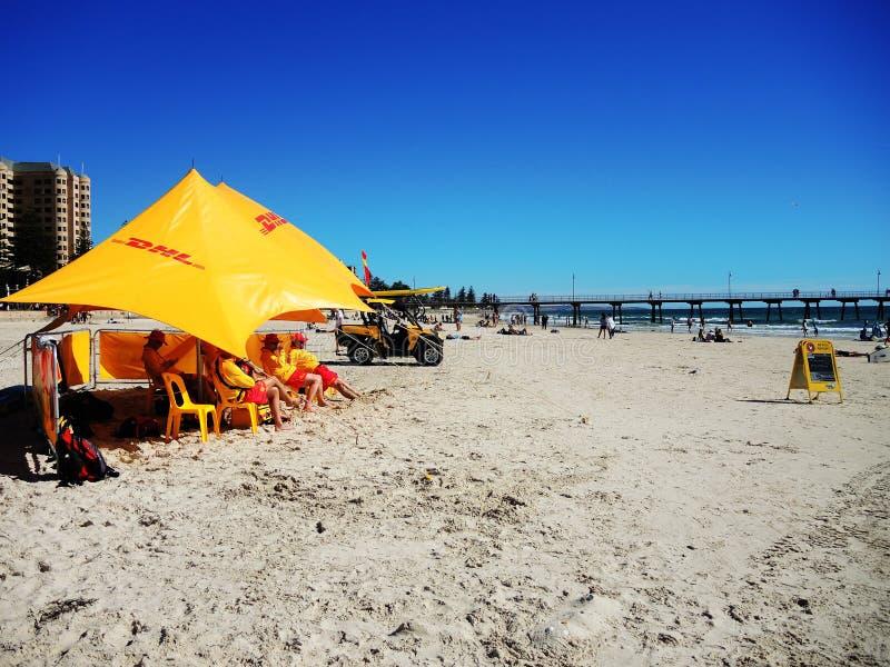 Австралийская команда обслуживания личных охран пляжа стоковые изображения