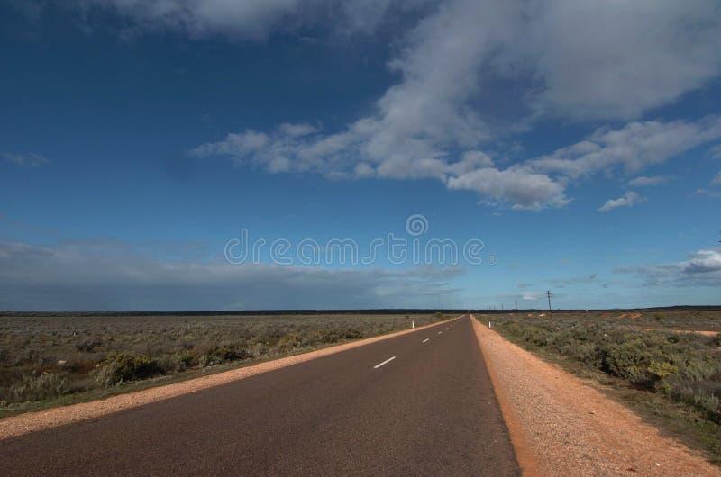 Австралийская дорога захолустья битума стоковое изображение