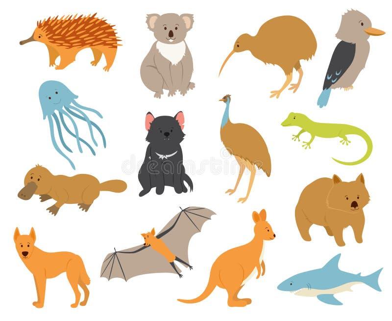 Австралийские установленные животные бесплатная иллюстрация