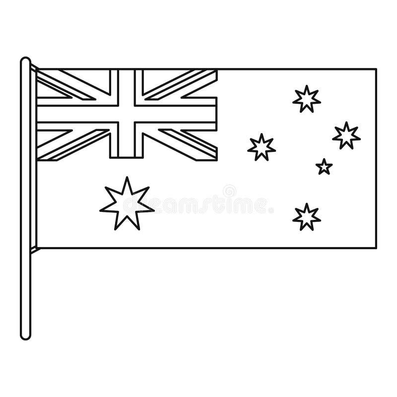 Австралийский значок флага, стиль плана иллюстрация вектора