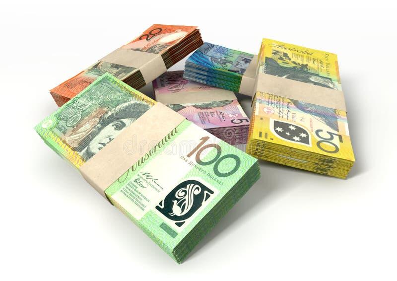 Австралийский доллар замечает стог пачек бесплатная иллюстрация