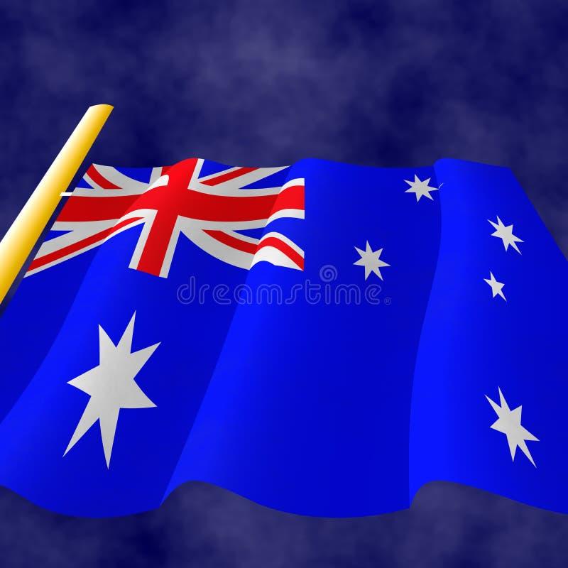 австралийский флаг иллюстрация вектора