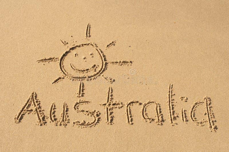 Австралия в песке стоковые фотографии rf