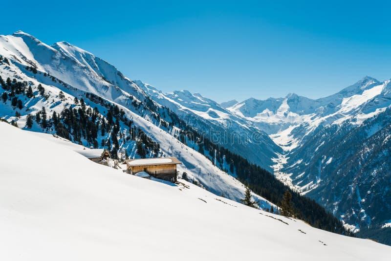 Австриец Альпы в зиме стоковые изображения rf
