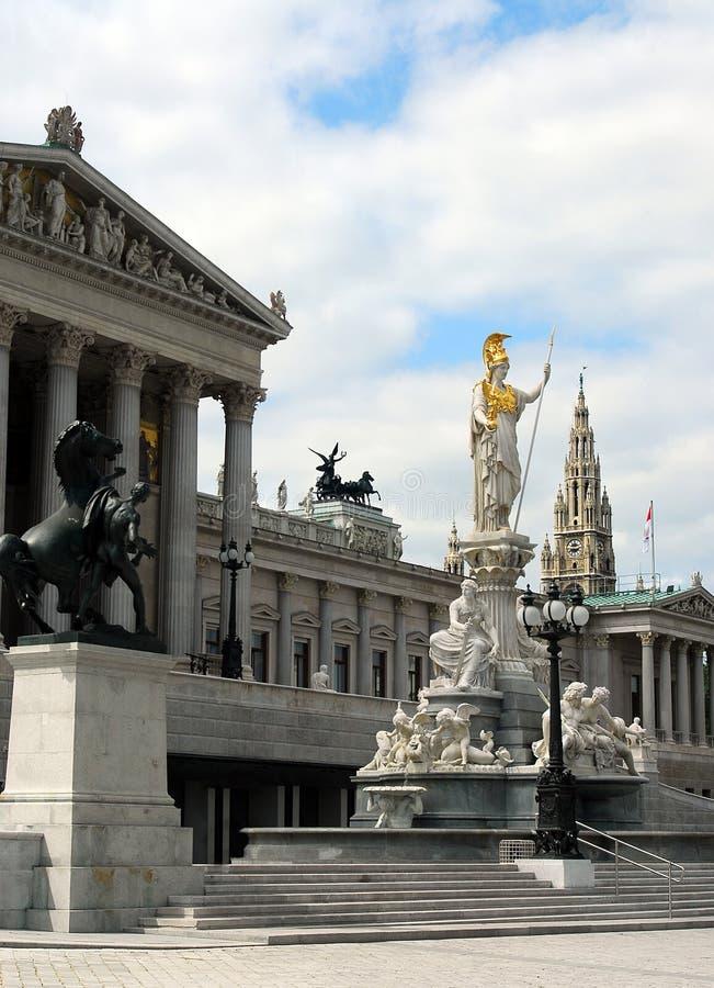 австрийская вена парламента стоковая фотография rf