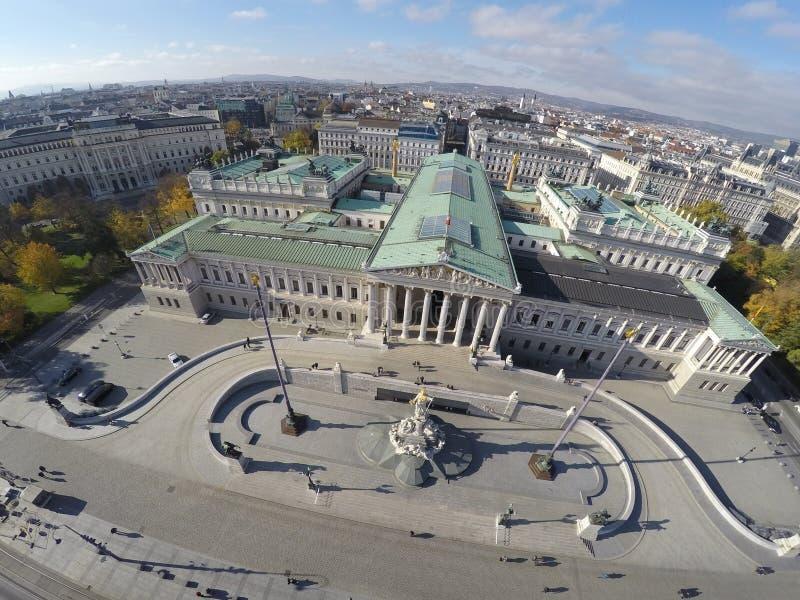 австрийская вена парламента стоковое изображение