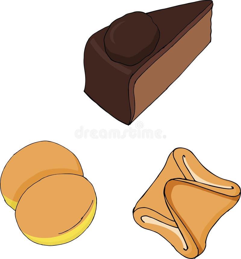 Австрийская еда - традиционные установленные векторы ед иллюстрация вектора