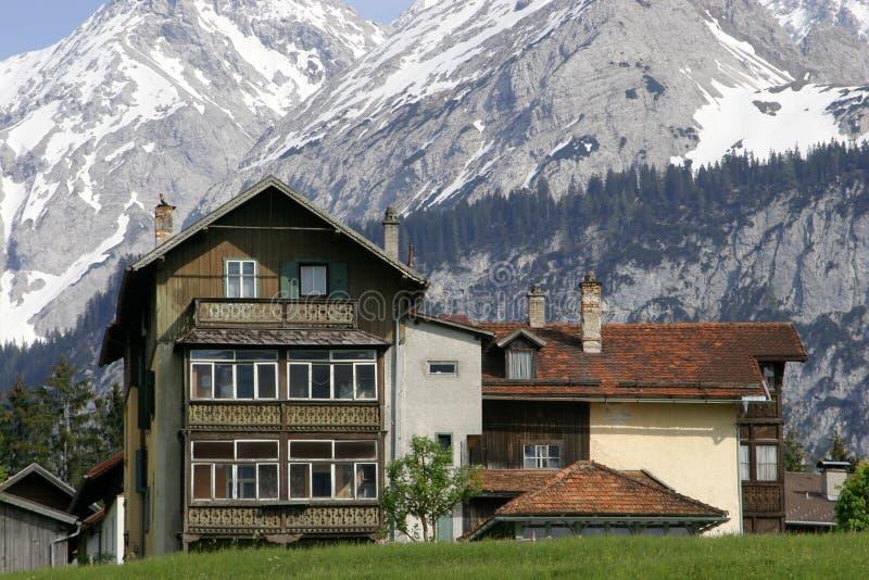 австрийские горы дома Стоковое Фото