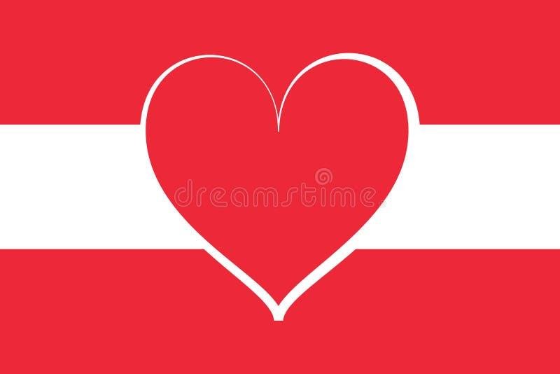 Австрийский национальный флаг иллюстрация вектора