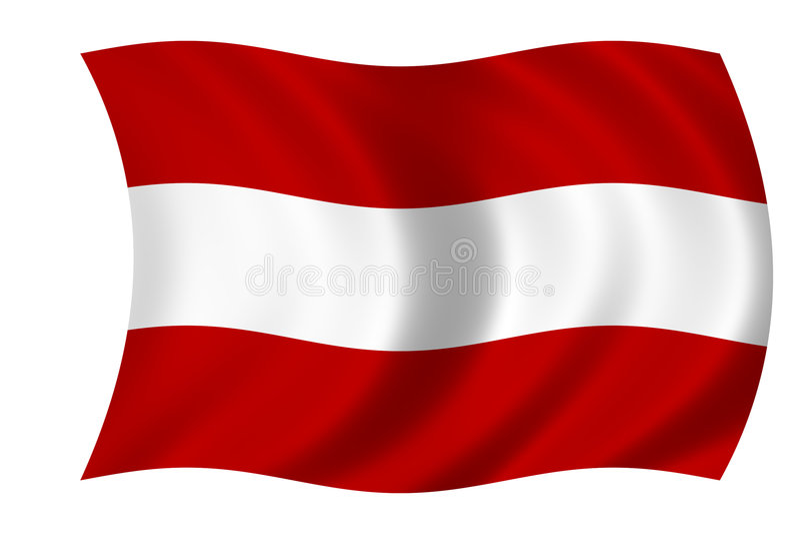 австрийский флаг Стоковые Фото