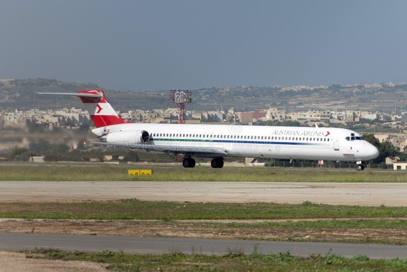 Австрийское MD-80 стоковая фотография rf