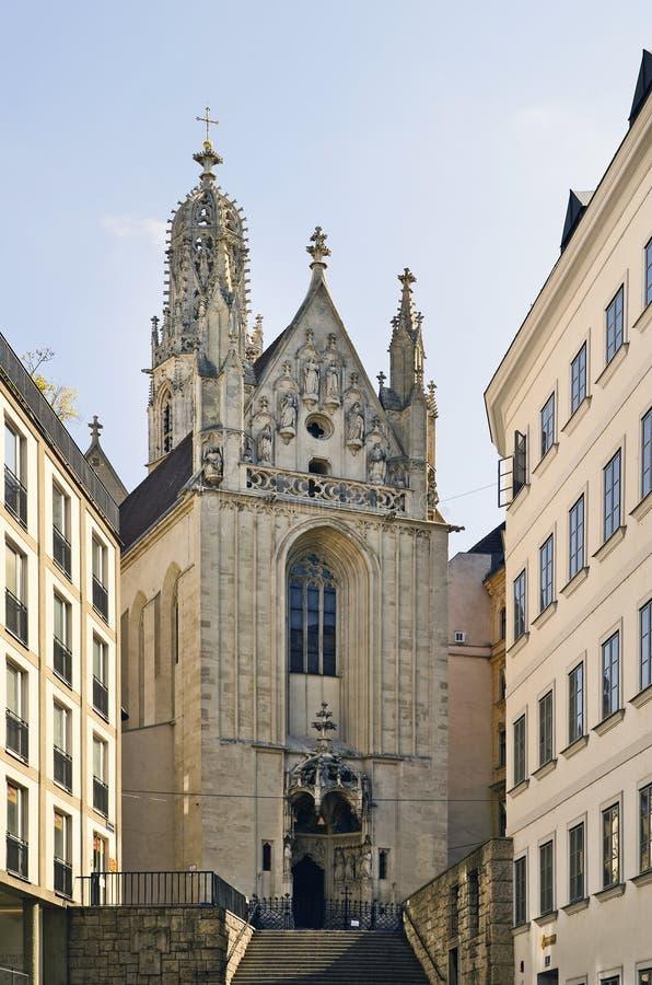 Австрия, вена, готическая церковь стоковая фотография rf