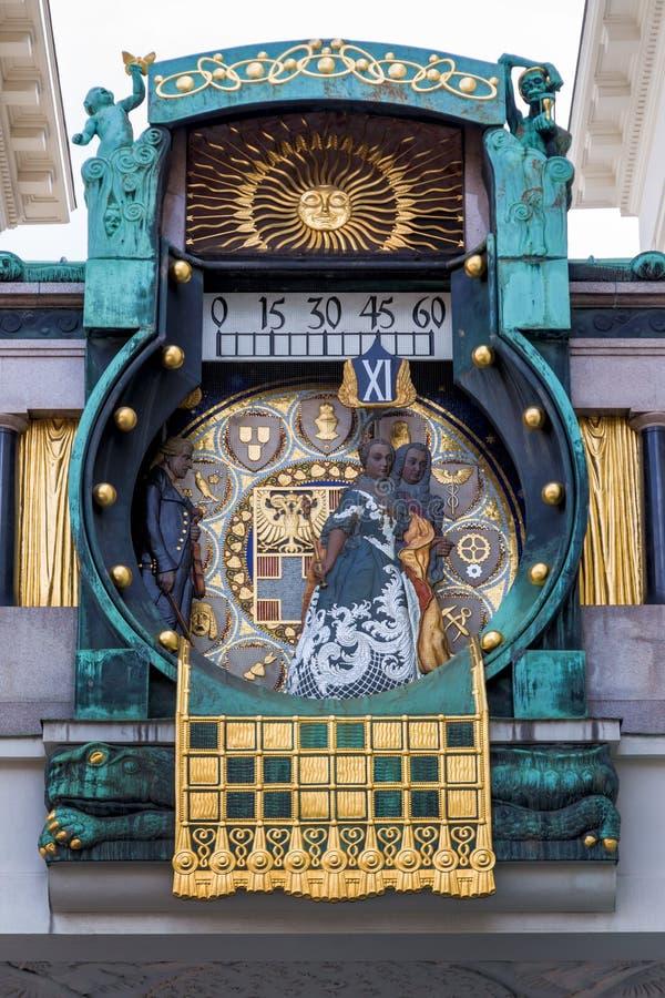 Австрия, вена, часы anker стоковое фото