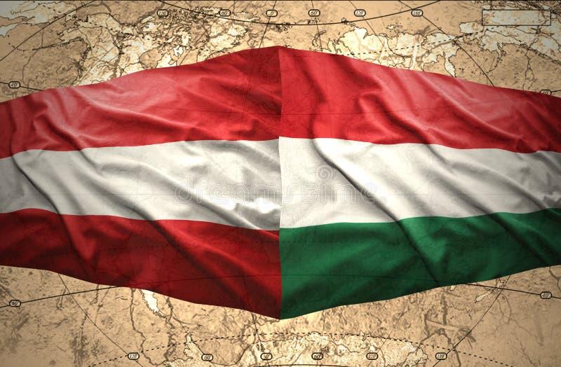 Австрия и Венгрия иллюстрация вектора