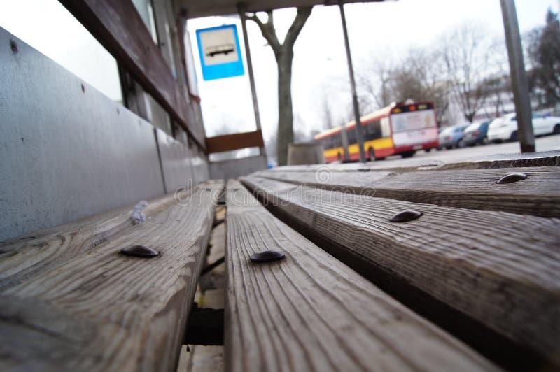 Автобусная остановка Варшавы стоковые изображения rf