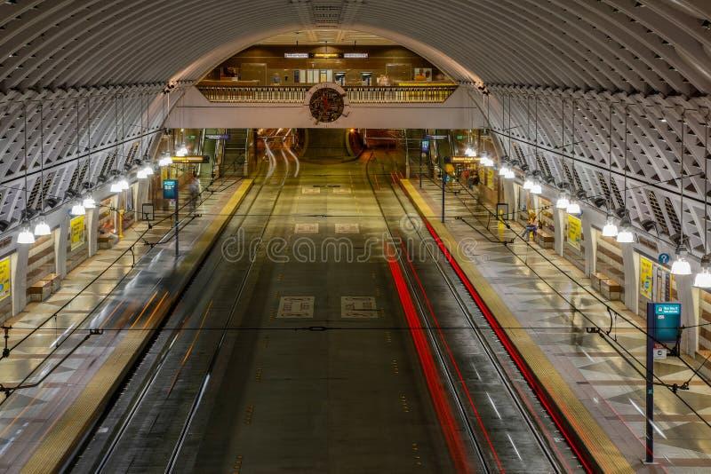 Автобусная станция Сиэтл стоковое изображение rf