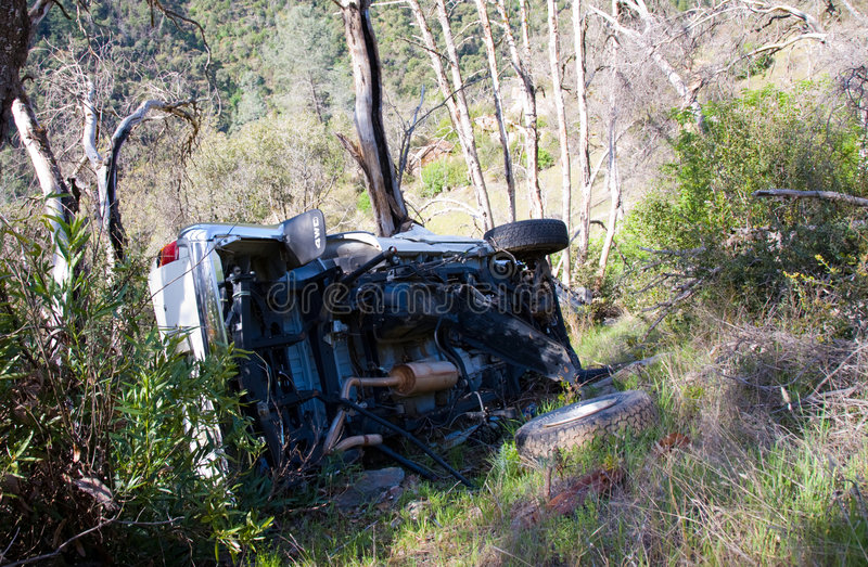 автокатастрофа мертво стоковая фотография rf