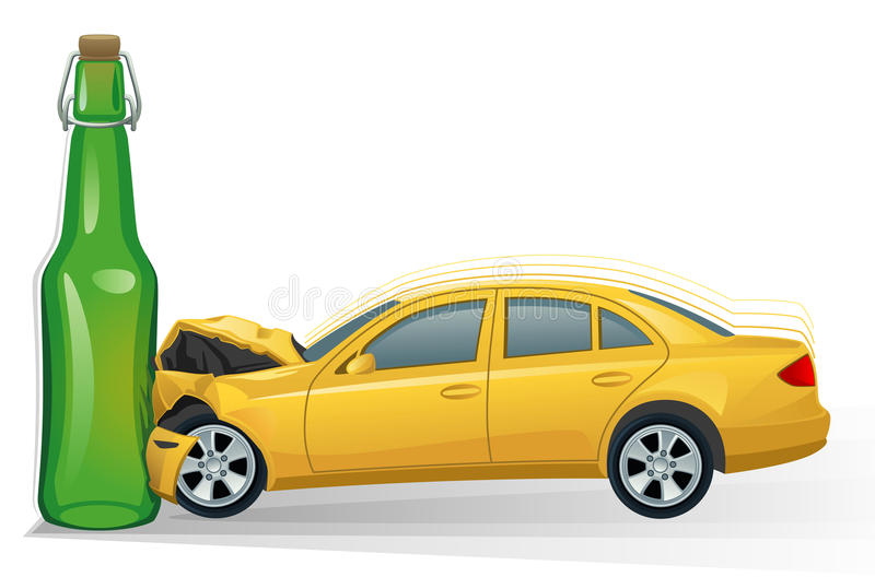 автокатастрофа иллюстрация вектора