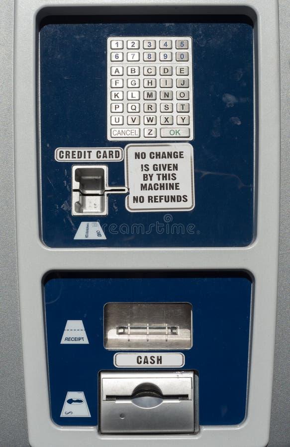 Автоматизированная станция оплаты для парковать стоковое изображение