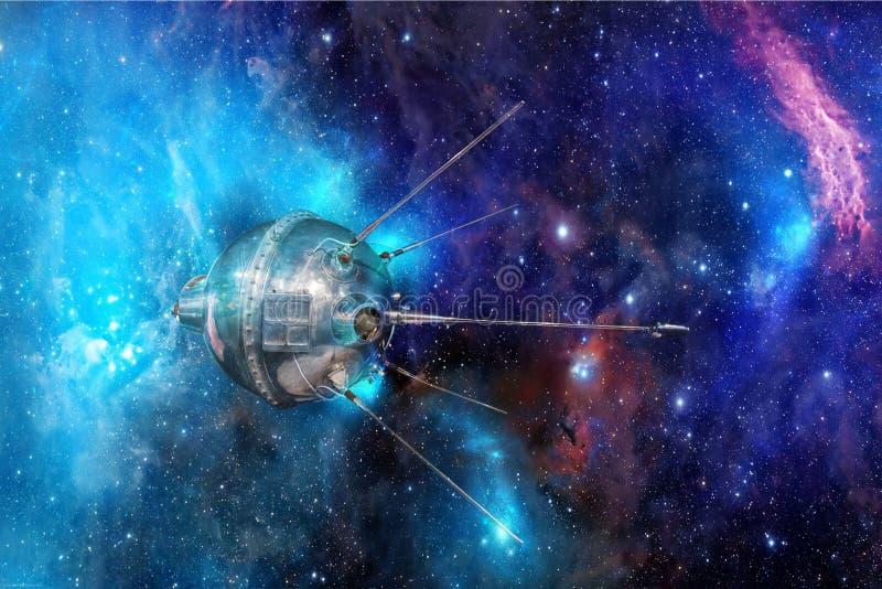 Автоматизированное Luna†«1 космический корабль СССР станции сперва в мире стоковая фотография rf