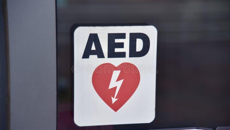 Автоматизированный внешний AED дефибриллятора стоковое фото