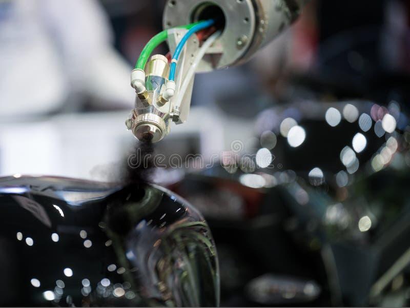 Автоматическая линия картины воздуха для части тела краски автомобиля стоковое изображение rf